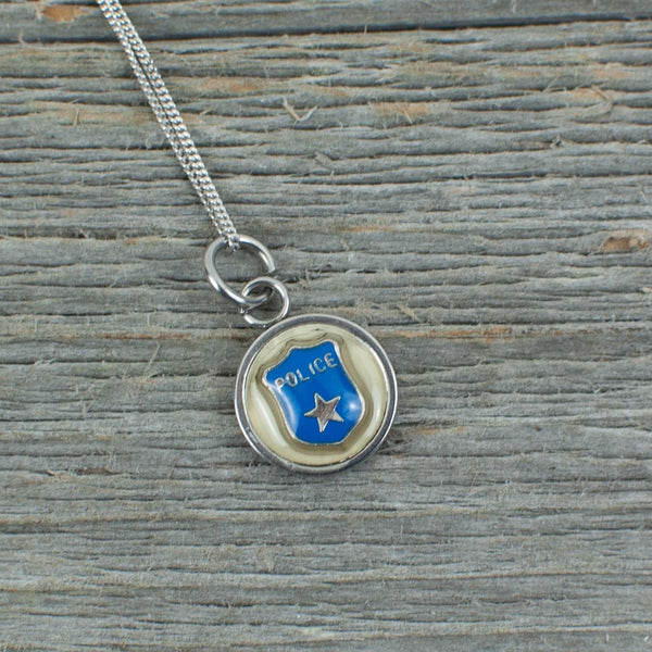 Police charm Necklace - Lisa Young Design