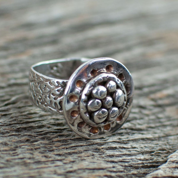 Silver Art Clay Organic Nest Ring