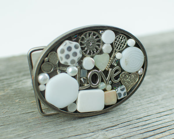 Tennis lovers theme Oval Belt Buckle - Lisa Young Design