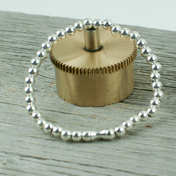 Sterling Silver Bead Bracelet 5mm