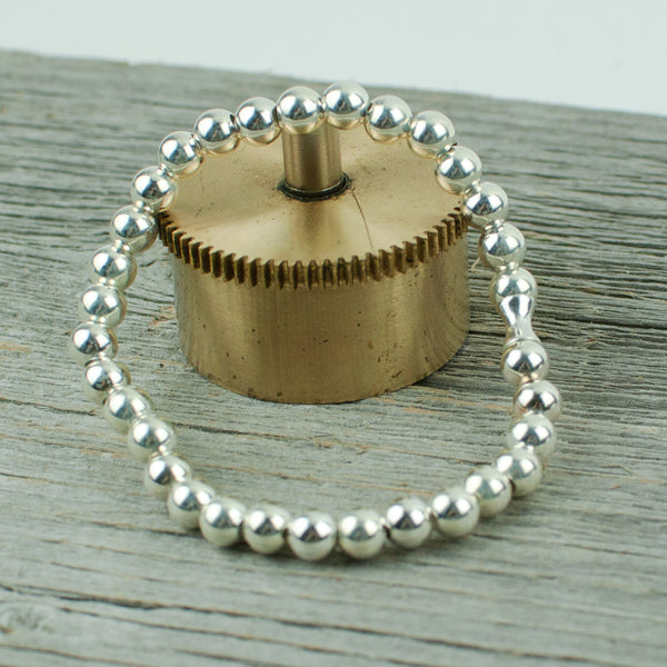 Sterling Silver Bead Bracelet 6mm