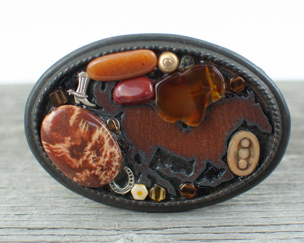Horse lovers theme Large Oval  Belt Buckle - Lisa Young Design