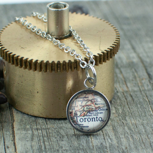 Toronto  Map Necklace - Lisa Young Design
