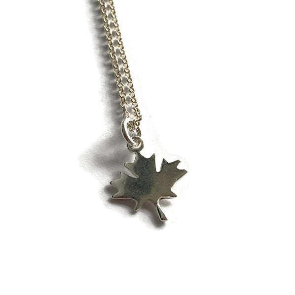 Maple leaf charm  Silver Necklace - Lisa Young Design