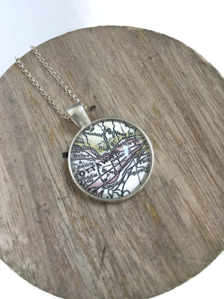 Ottawa Map Necklace - Lisa Young Design