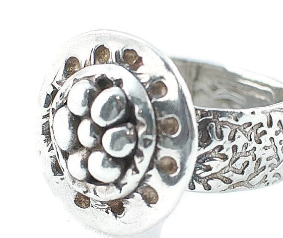 Silver Art Clay Organic Nest Ring - Lisa Young Design