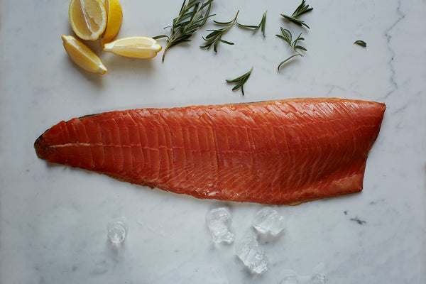 Christmas PGI Status London Cure Smoked SALMON [D-Cut Sliced] Hand-sliced