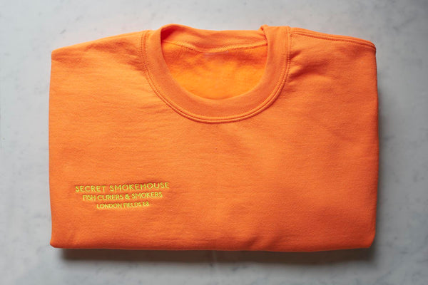 Secret Smokehouse Neon Orange Jumper