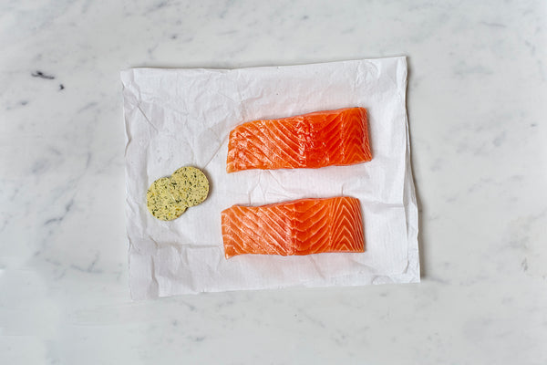 Salmon with Lemon and Dill Butter