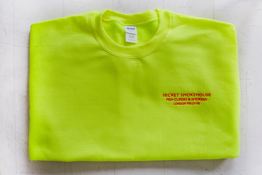 Secret Smokehouse Neon Yellow Jumper