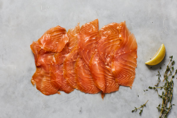 Christmas PGI London Cure Smoked Salmon 200g D-Cut Pack Hand-sliced