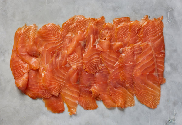 Christmas PGI London Cure Smoked Salmon 400g D-Cut Pack Hand-sliced