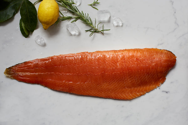 Christmas London Cure Oak Smoked Salmon Whole Fillet V-Cut [Vertically] Hand-sliced