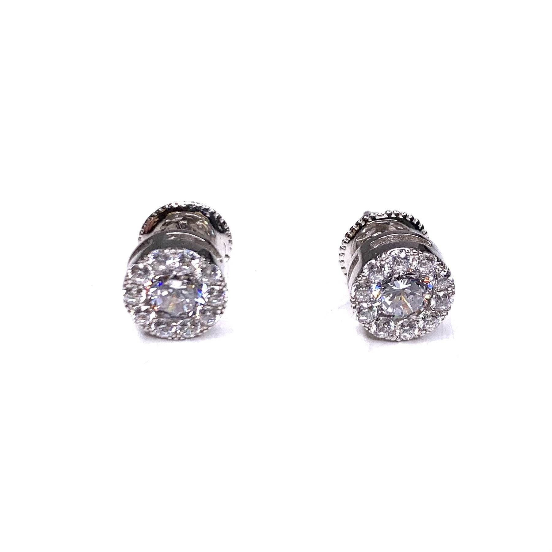 Core Sterling Silver Round Stud Earring