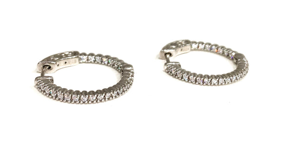 Sterling Silver Earrings Hoops Small