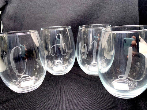 Initial Wine Glasses