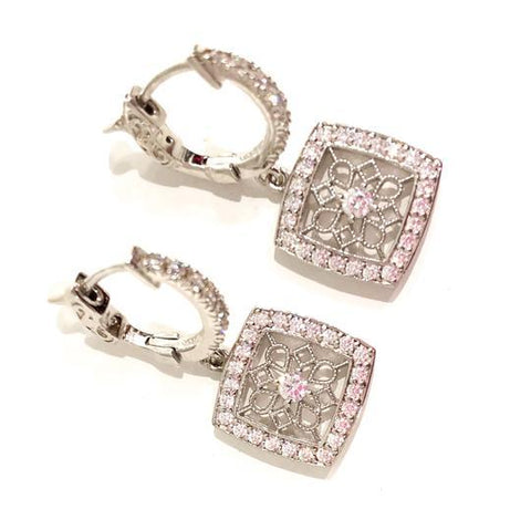 Core Jewelry Sterling Silver Cubic Zirconia Earrings