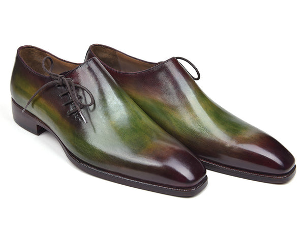 Mens Oxford Shoes Side Lace Green PRO Quality