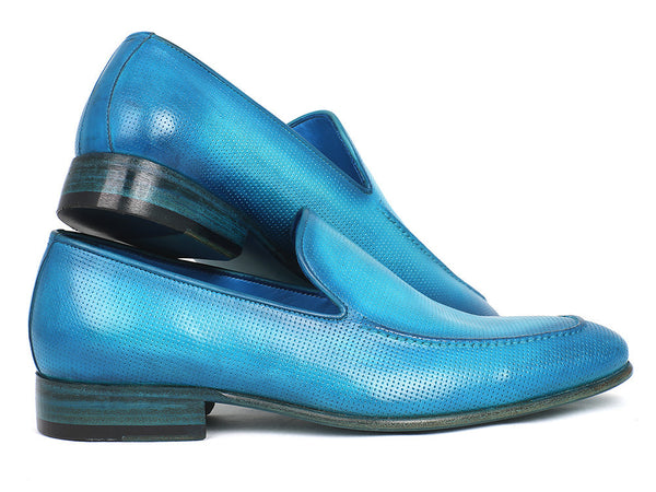 Mens Loafers Perforated Turquoise - PRO Quality