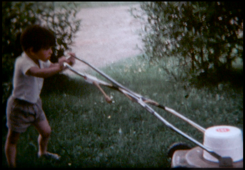 Kid Attempts to Mow Lawn 1976