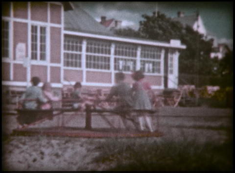 Kids Playing on Marry Go Round circa 1950