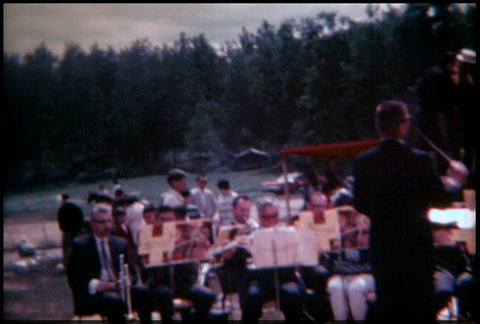 Orchestra Performing Outside 1970