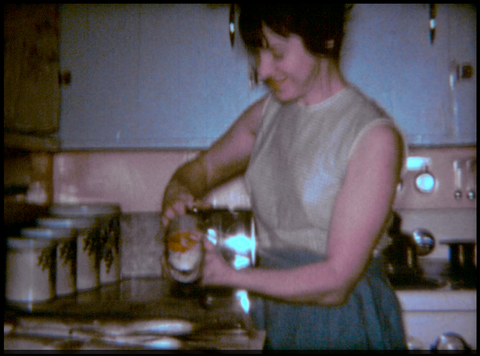 Prepping Fish in the Kitchen 1967