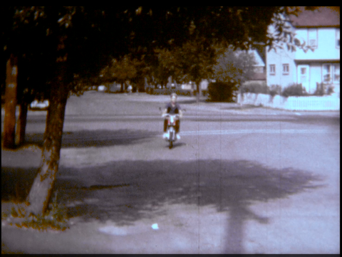 Teen on a Moped Bike 1968