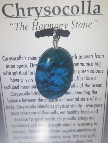 Chrysocolla pendant - Very Shari