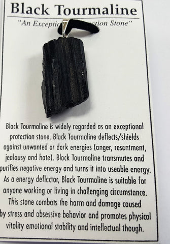 Black tourmaline - pendant - Very Shari