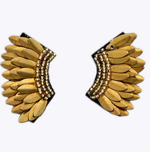 Small Wing Earrings - Gold