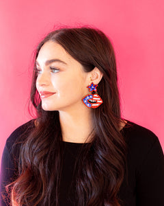 America Star and Lip Earrings