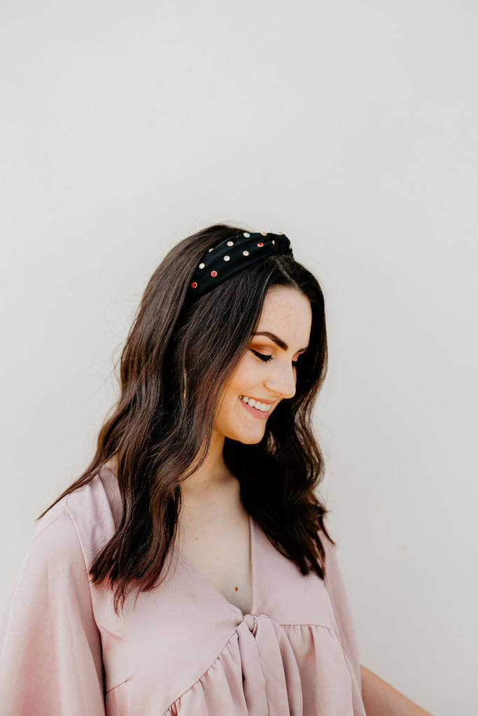 Rhinestone Headband - Black