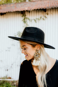 Statement Gold Tassel Earrings