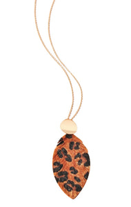 Leopard Leaf Necklace - Brown