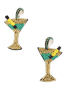 Martini Earrings - Green