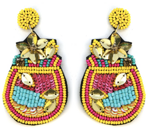Fruity Drink Earrings - Yellow
