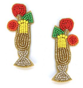 Tiki Drink Earrings - Gold