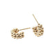 Gold Ball Huggie Earrings