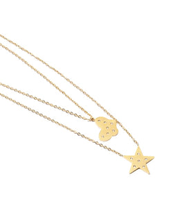 Butterfly and Star Rhinestone Layering Necklace