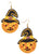 Pumpkin with Hat Earrings