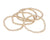 Gold Ball Stackable Bracelets - Matte Gold