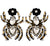 Rhinestone Spider Earrings
