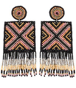 Kayla Earrings - Black