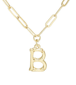 Bamboo Initial Necklace - B