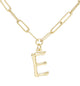 Bamboo Initial Necklace - E