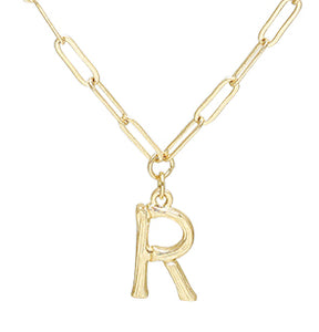 Bamboo Initial Necklace - R