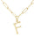 Bamboo Initial Necklace - F