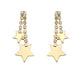 Rhinestone Star Dangle Earrings
