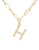 Bamboo Initial Necklace - H